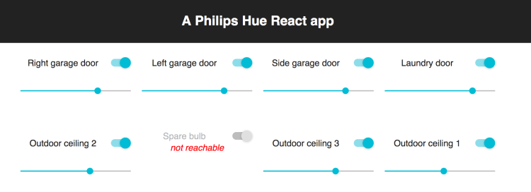 A React app for Philips Hue lights – Thingsmatic